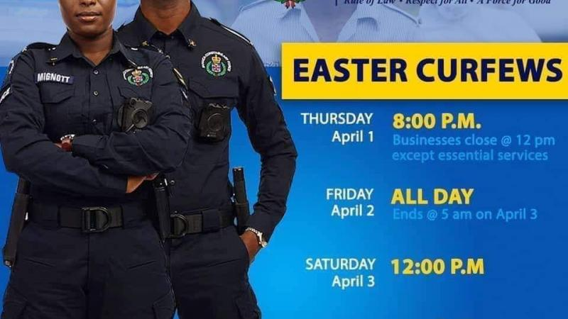Vacances de Pâques : sévère couvre-feu en Jamaïque