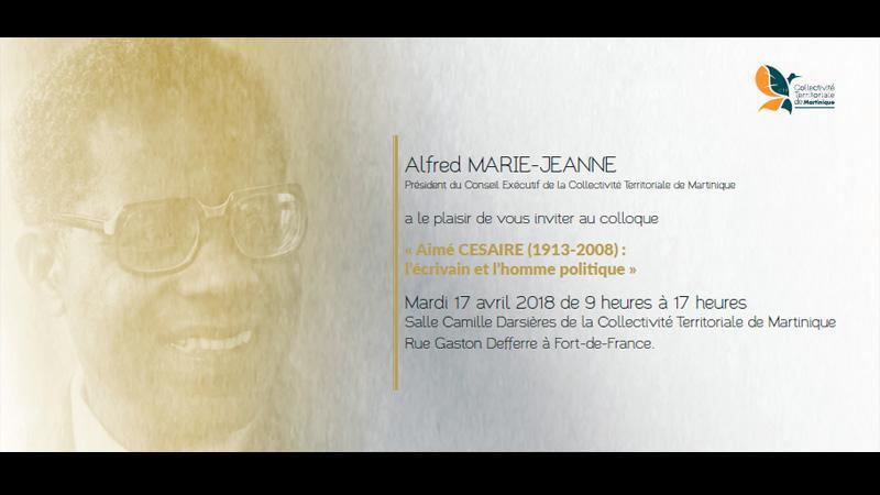 Aimé CESAIRE (1913-2008) L'écrivain et l'homme politique