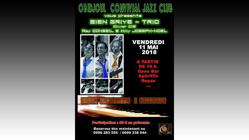 Jazz biguiné à Bellevue  Vendredi 12 mai 2018