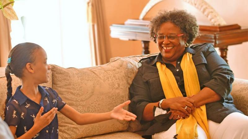 Prime Minister Mottley Praises Young Film Maker