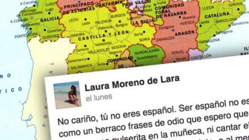 """""""No cariño, tu no eres español"""": Se extiende por las redes el mensaje de la Malagueña que no tiene desperdicio"""