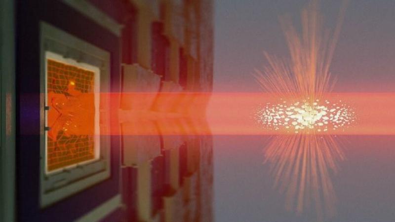 Réalisation d'une intrication quantique entre deux objets macroscopiques différents et distants