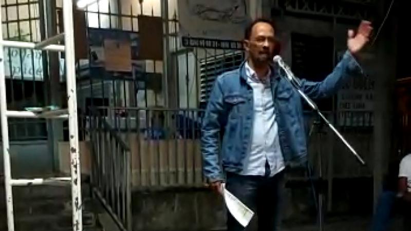 Campagne électorale : intervention de Louis Boutrin (Gran Sanblé pou Matinik) au marché de Saint-Pierre
