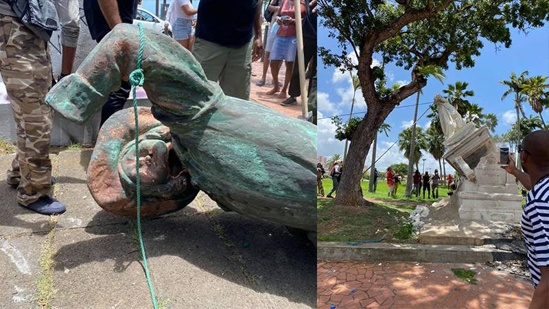 """Et si D'Esnambuc et Joséphine étaient remplacés par des statues de """"Neg-mawon institutionnels"""" ?"""